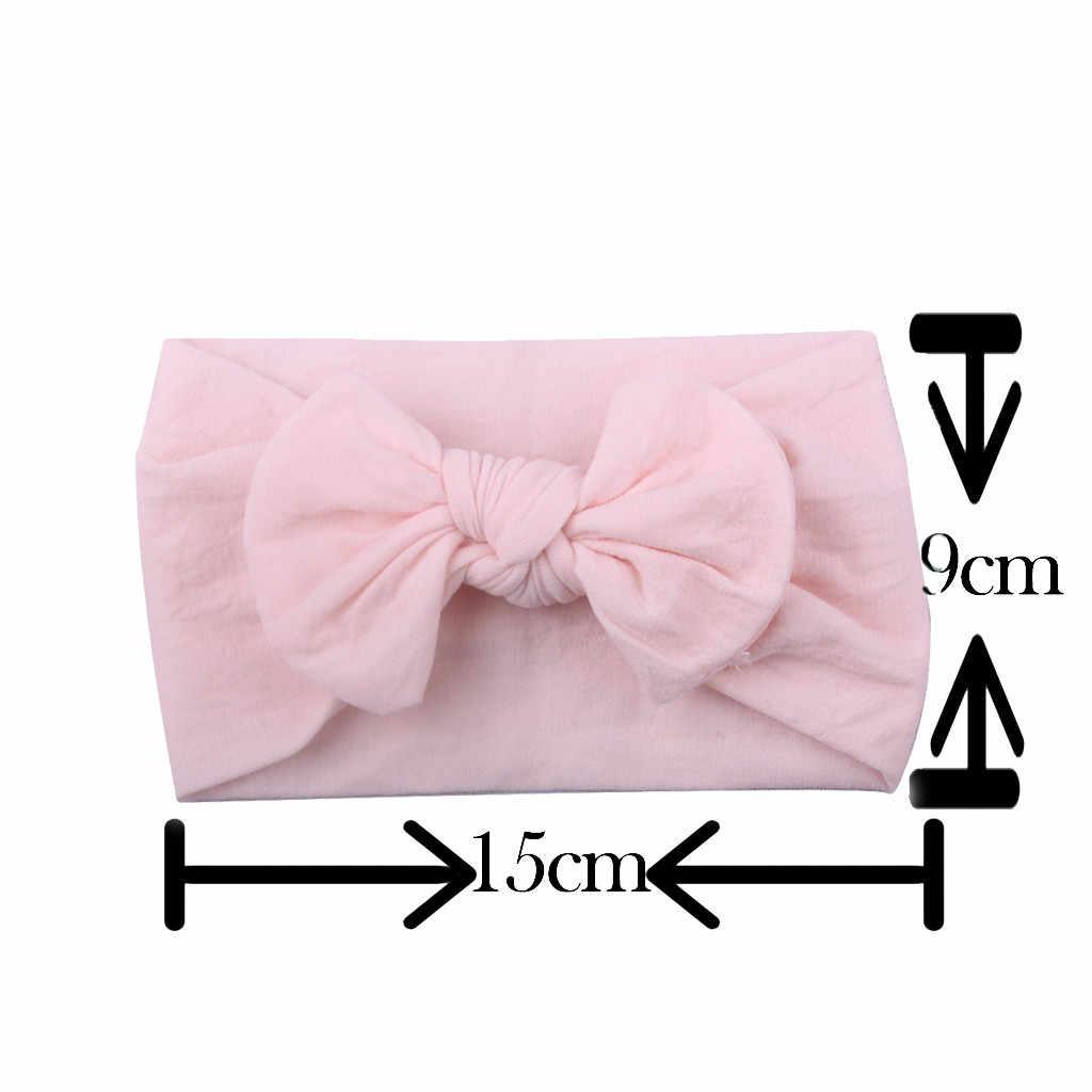Meninas do bebê Headbands Acessórios Para o Cabelo Da Criança Infantil Roupas Turbante Banda Headwear Faixa de Cabelo Bow Acessórios Menina Sólida