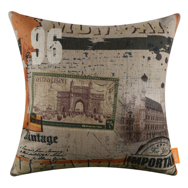 Aliexpress.com : Buy LINKWELL 18x18 inches Pillow Case Burlap ...