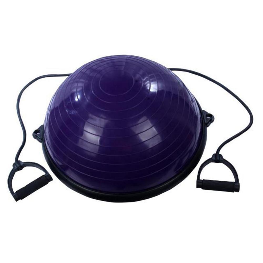 Yoga balle équilibre hémisphère Fitness pour Gym bureau maison violet intérieur équilibré hémisphère