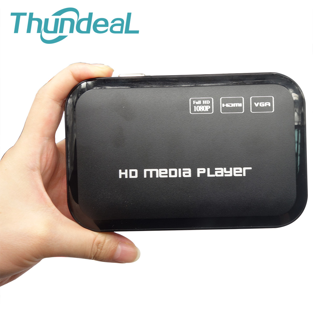 ThundeaL HDD multimédia H.264 MKV Full HD 1080 P HDMI HDD lecteur multimédia Center HDMI VGA AV sortie AVI RMVB RMwith télécommande