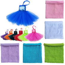1pc 10x12inch with Lined Crochet Tutu Stretch Fabric Chest Wrap Spool Soft Wedding Birthday Party Kids Favors Baby Shower