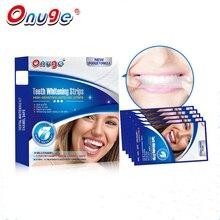 1 Коробка 5 Минут Сенсорный 3D Сильный Отбеливание Зубов Полоски Гель 28 Полосы Вересковый и Красоты Уход За Полостью Рта Стоматологическая Яркий Белый Бесплатно перекиси
