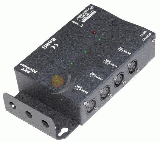 Répartiteur de Signal de lumière d'étape légère du séparateur DMX512 de 4CH DMX répartiteur de 4 manières DMX distributeur