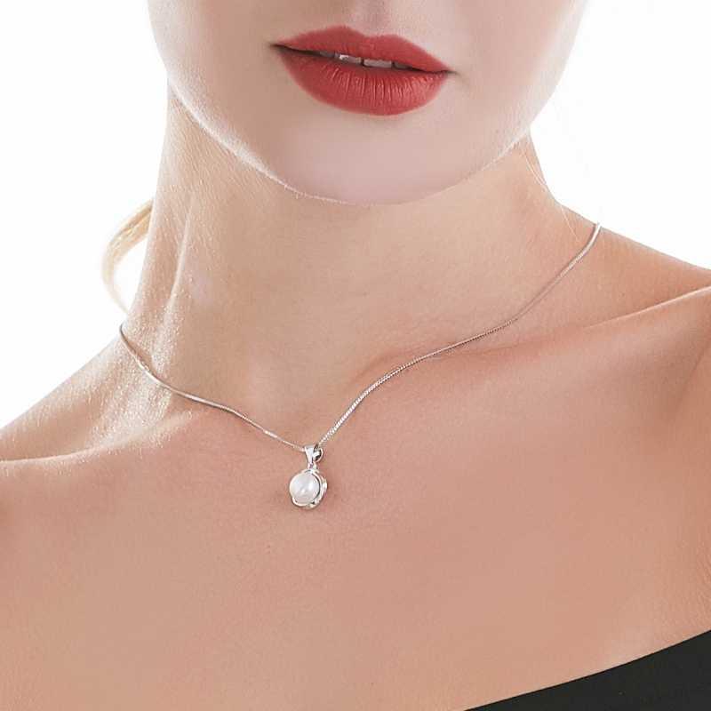 925sterling silver naszyjnik wisiorek dla kobiet oryginalna 100% prawdziwa AAAA wysokiej jakości naturalna perła słodkowodna naszyjnik jewelry8-9mm