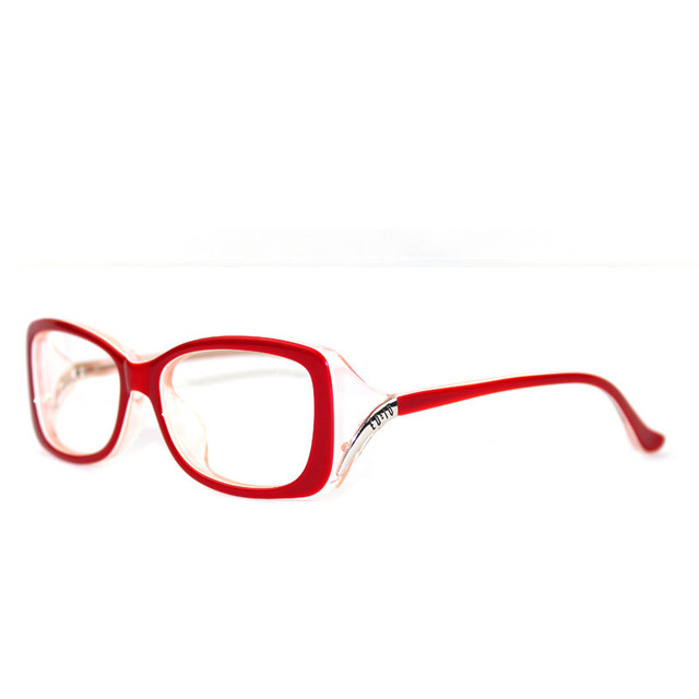 Fashion  Women Eyeglasses Frame Vintage Myopia Black Glasses Red wine Acetate Frame Bright Red Frame Optical Glasses Frame