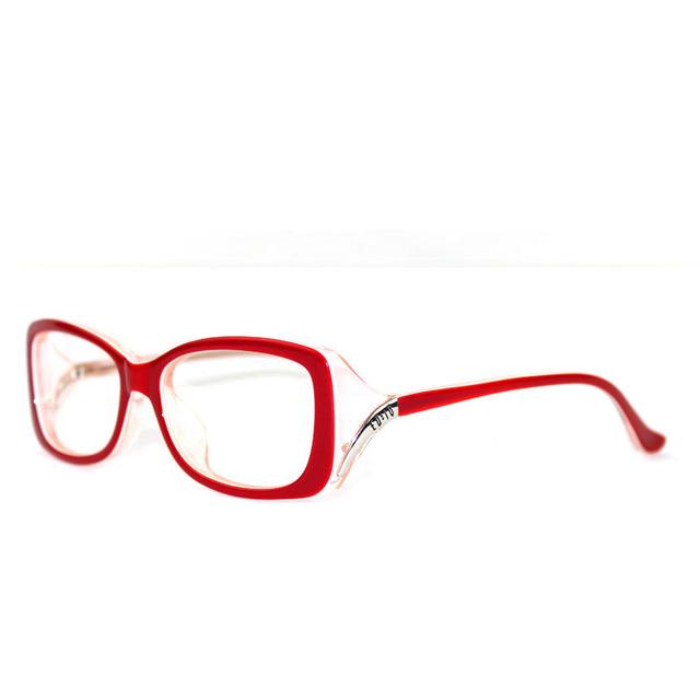 Mujeres de la manera Marco de La Vendimia Gafas de Miopía Negro vino Tinto Acetato Marco de los Vidrios Ópticos Marco de Color Rojo Brillante