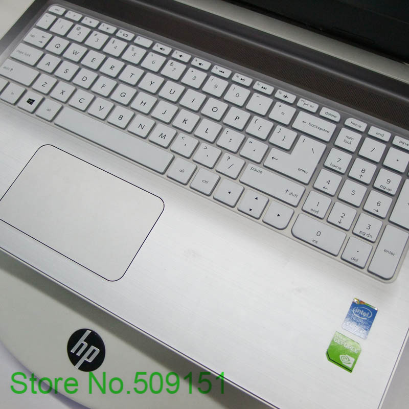17.3 inch Silicone Laptop Keyboard Cover Protector Film for HP Pavilion Envy 17 Series 2016 Version 17 ac002TX,White