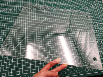 Большой размер печати стеклянная пластина 310x370x3 мм боросиликатное стекло с подогревом кровать с винтовыми отверстиями для Tornado 3D принтера