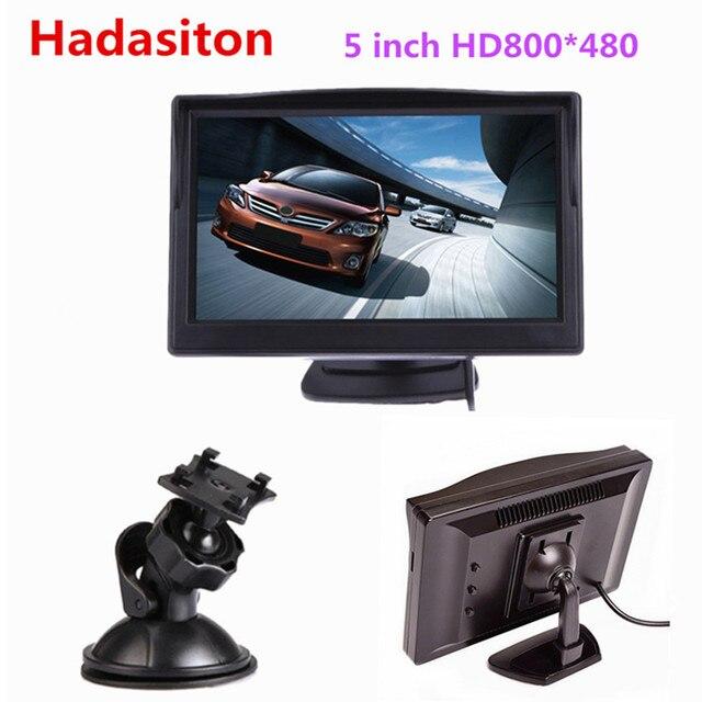 """5 """"TFT pantalla LCD en color de coche Monitor HD800 * 480 coche marcha atrás aparcamiento de cámara retrovisora Monitor VCD DVD VCR"""