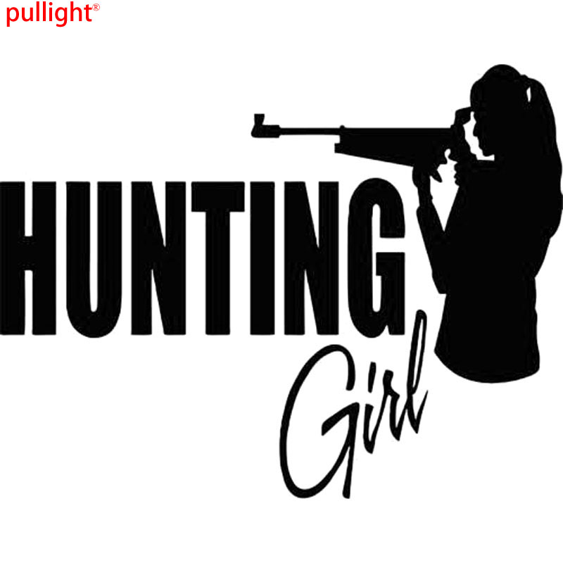 16CM*12.5CM Hunting Girl Female Deer Bow Gun Whitetail Car Vinyl Sticker Car Stylings And Motorcycle SUVs Car Window Decals