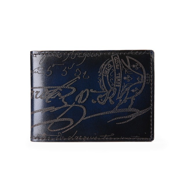 TERSE_9 Colors in stock engraving handmade license card holder real leather luxury id card holder factory price