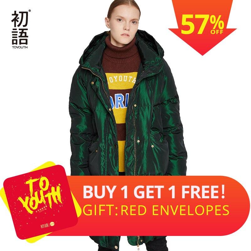 Toyouth утка подпушка для женщин зимнее пальто с капюшоном Abrigo одежда женская длинное пуховик черный теплая куртка Утепленные Пальто