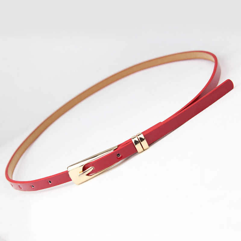 موضة 8 ألوان رقيقة بو حزام جلد حار الإناث الأحمر براون أسود أبيض أصفر أحزمة وسط للنساء فستان حزام بالجملة