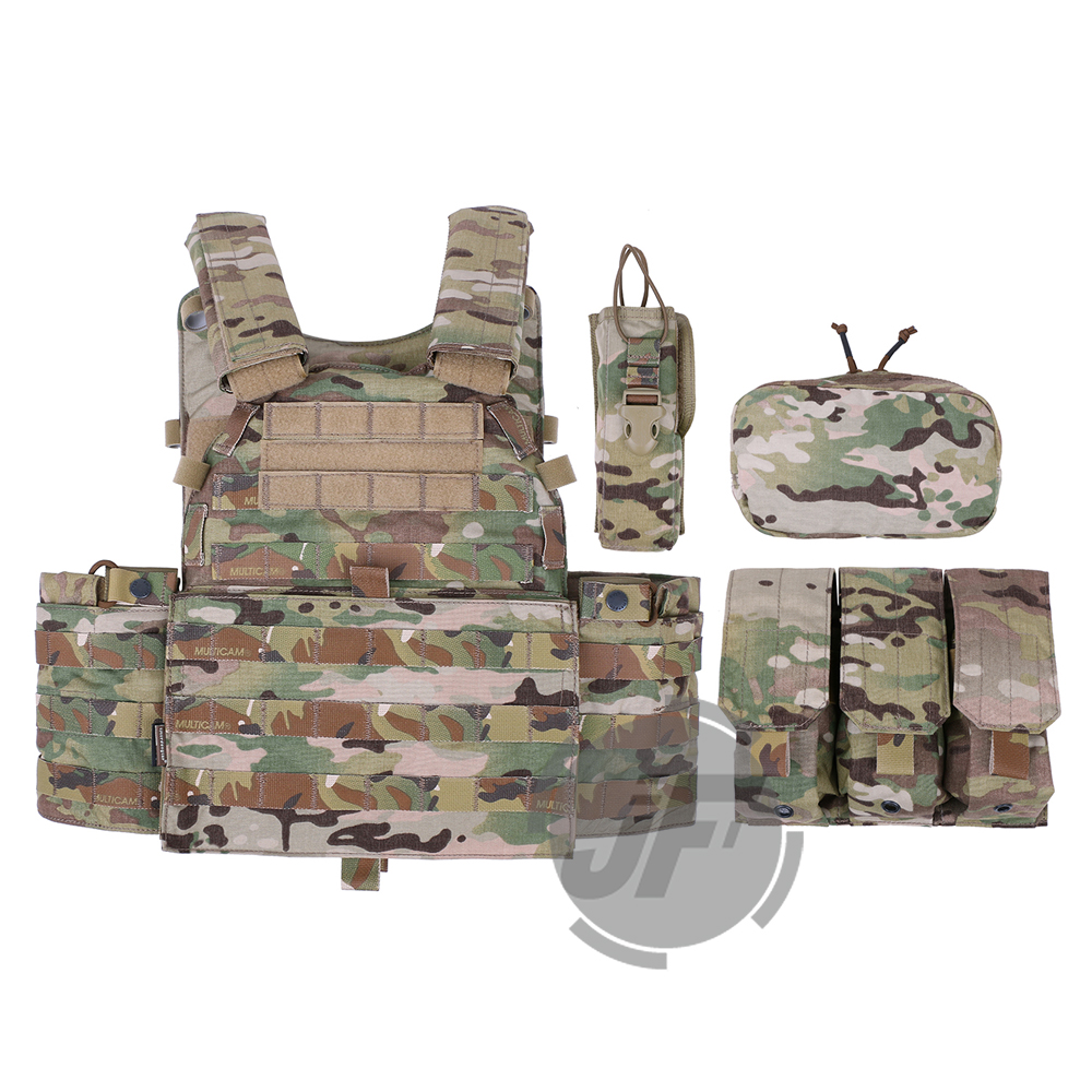 Image 2 - Emerson Tactical Modular MOLLE LBT 6094A Plate Carrier EmersonGear LBT 6094A Combat Vest w/ M4 M16 5.56 .223 Magazine PouchesHunting Vests   -