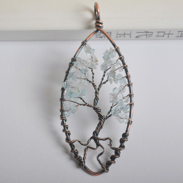 Free Shipping 89X40MM Oval Copper Handmade Wire Wrap Tree of life ...