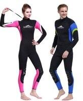 3 мм неопреновый гидрокостюм Мужская цельная одежда для плавания с длинным рукавом гидрокостюм для плавания для женщин Дайвинг для сёрфинг