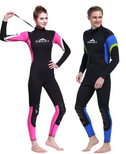 3MM Neoprene Wetsuit Men One Piece Swimwear Long sleeve Wetsuit for Swimming Women Scuba Diving Surfing Spearfishing BeachWear sbart 3mm neoprene wetsuit men top long sleeve neoprene surf rash guard jacket for diving surfing swimming clothe keep warm n734