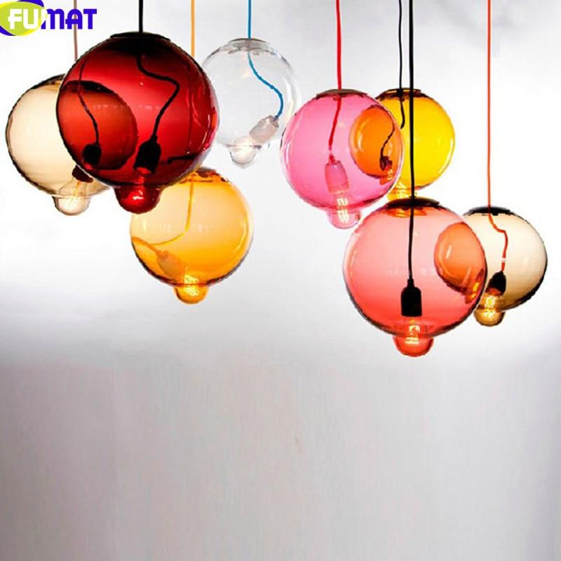 Glass Chandelier Lamp Living Room Dinning Room Light Bedroom Bar Hanging Lamp Modern Art Glass Round Ball Light Fixture dale chihuly style art murano glass lamp multicolor handmade blown glass chandelier light fixture
