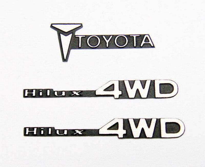 Metal Toyota logo Set for 1:10 TAMIYA Hulix Bruiser-in