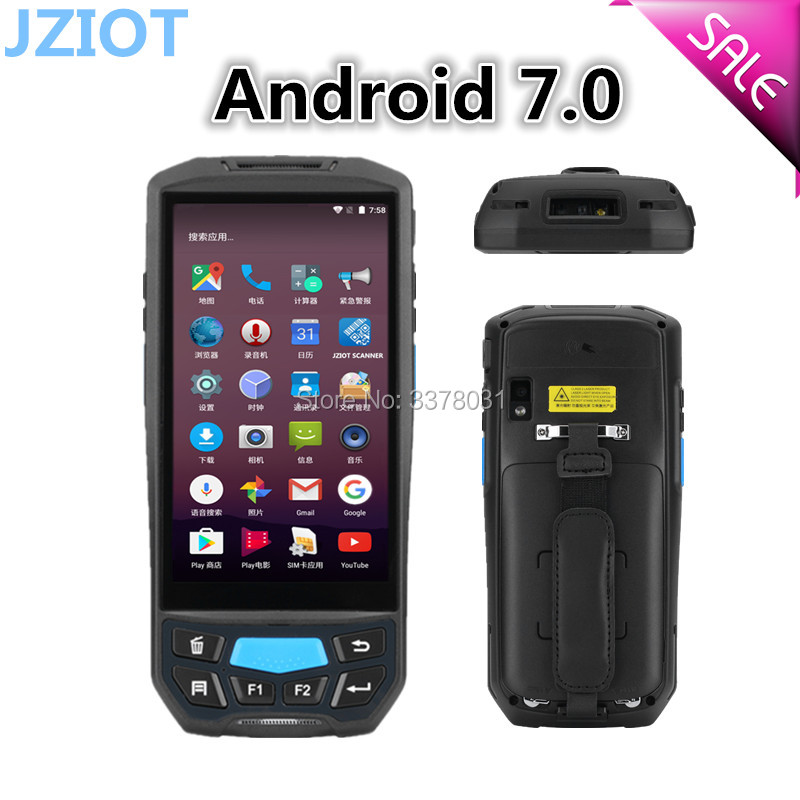 US $281 2 5% OFF|JZIOT PDA NFC RFID Free SDK Android Mobile Thermal Printer  Handheld Terminal Wireless Bluetooth barcode Scanner Wifi Android PDA-in