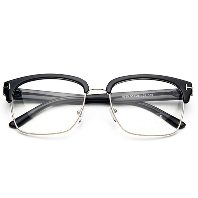 b2b9bdd5b3f Classic Square TF Glasses Frame Men Women Myopia Prescription Clear Lens  Glasses Frames Optical Reading Eyeglasses Eyewear UV400-in Eyewear Frames  from ...