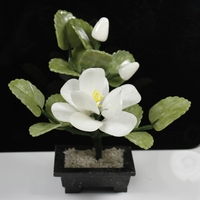 Natural jade jade ornaments a camellia bonsai Home Furnishing jewelry ornaments jewelry room
