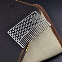 Feiye Wild Shenzhen Brand Hairdressing Hair 304 Stainless Steel Metal Portable Creative Card Comb Anti Static
