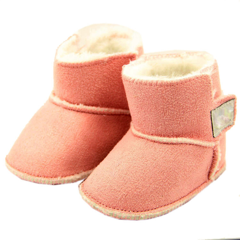 Winter Newborn Baby Boy Girl Solid Cotton Fabric Shoes ...