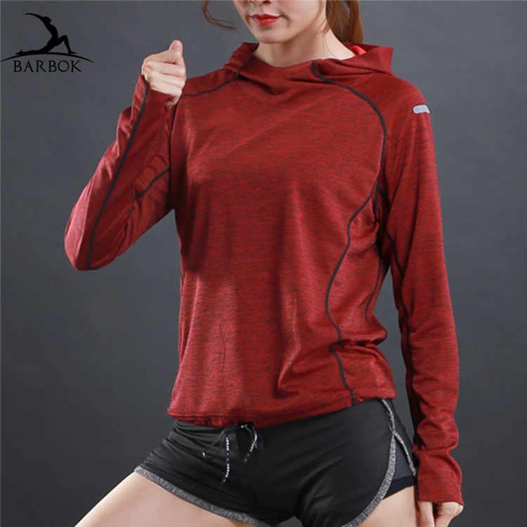 BARBOK ארוך שרוול ריצת מעילים לנשים גברים הסווטשרט אין רוכסן ספורט ג 'רזי רץ ריצה גבירותיי חיצוני כושר בגדים