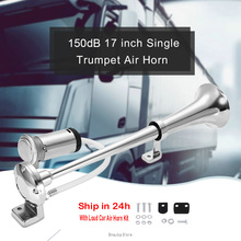 12v Horn 150DB Loud Car Air Universal Megaphone 17 Inch 12V 180 Hertz Single Trumpet Compressor for Trucks Cars Automobiles