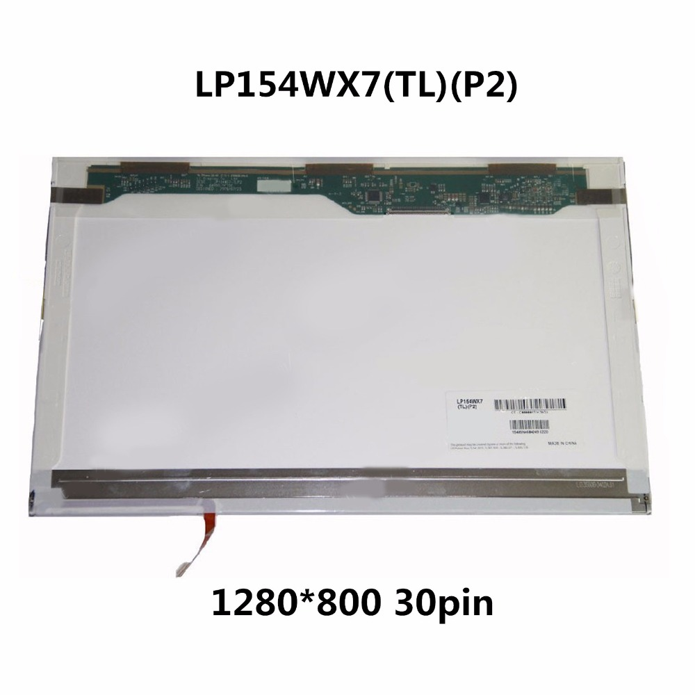 15.4'' LED LCD Screen Display Matrix Panel Replacement For Panasonic Toughbook CF-52 LP154WX7 TLP2 For Lenovo ThinkPad T500 W500 ips display for lenovo fru 00ny418 pn sd10k93456 lcd screen led 12 5 matrix for laptop panel replacement