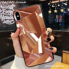 Luxury Jelly Phone Case For iPhone X XR XS Max Soft PC+TPU Case Diamond Shockproof Clear Cover For iPhone 7 8 6 6s Plus cases