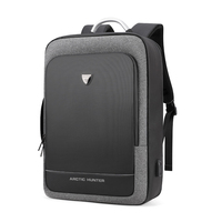 ARCTIC HUNTER Backpack Male Business 17 Inch Travel Computer Bag Men's Large Capacity Notebook Fashion Backpack Dark Gray