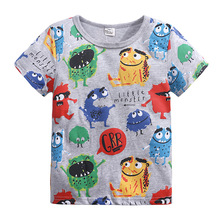 Baby Boys fashion clothes 100%Cotton Cartoon Childrens clothing Casual Summer Tops Girls Kids T-Shirt Short  1-6Y CH01