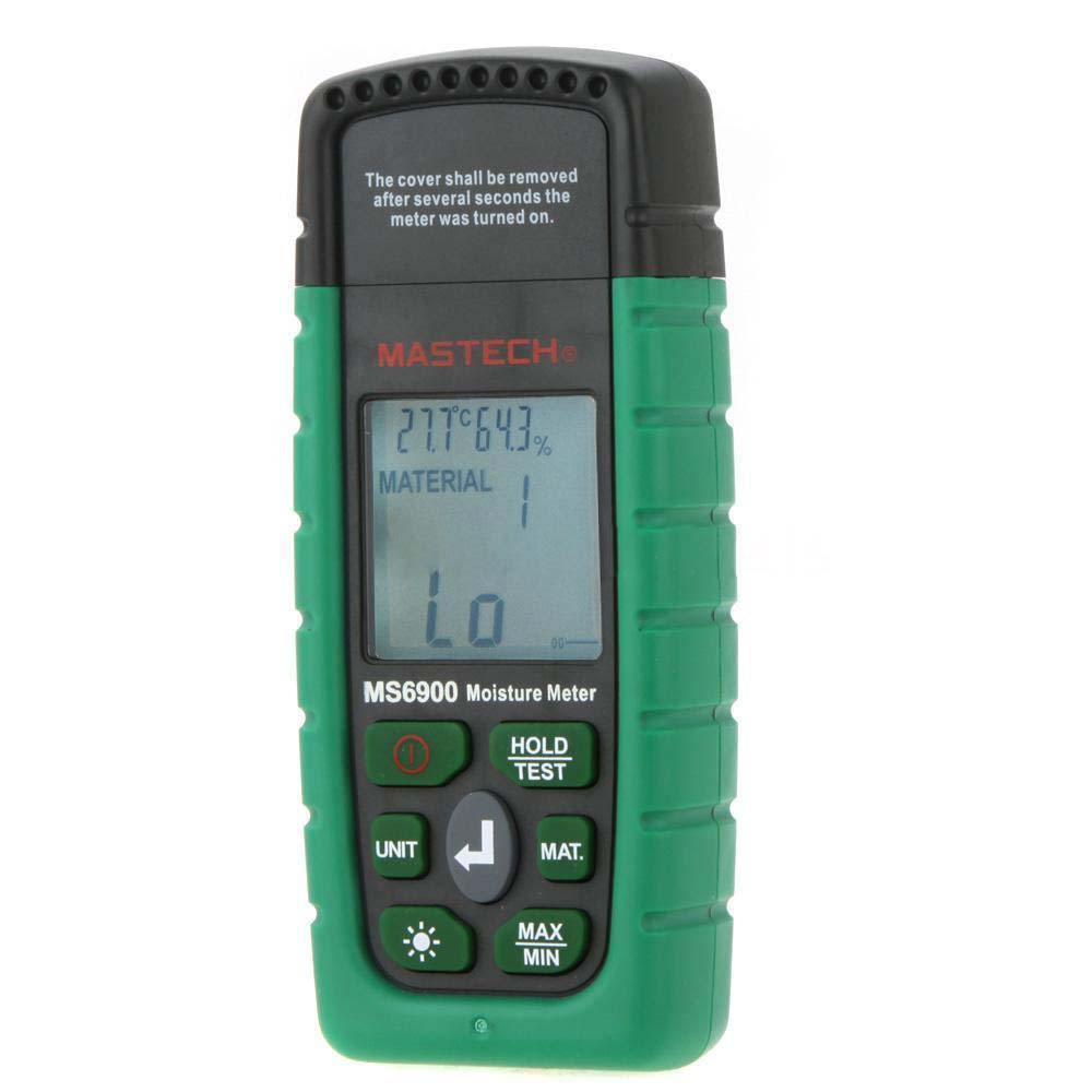 MYLB-Mastech MS6900 Mini Digital Moisture Meter Wood Concrete Humidity Tester high precision digital electric moisture meter wood timber plank humidity moisture content tester gauge with 11mm probe vc2ga