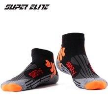 Мужские носки для спорта на открытом воздухе, баскетбола, бега, с низким вырезом, мужские носки для футбола, велоспорта, спортивные носки, хлопковые нескользящие Компрессионные носки HEQ507