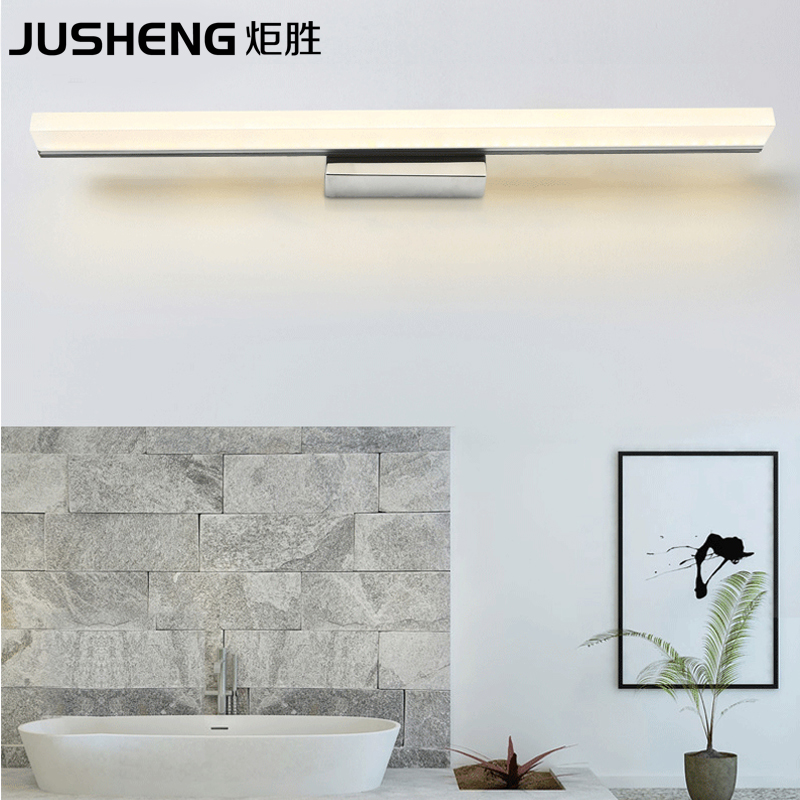 ФОТО 2017 New Modern LED Wall Light Sconces Surface Mounted Acrylic Indoor Bathroom Lighting Mirror Wall Lamp