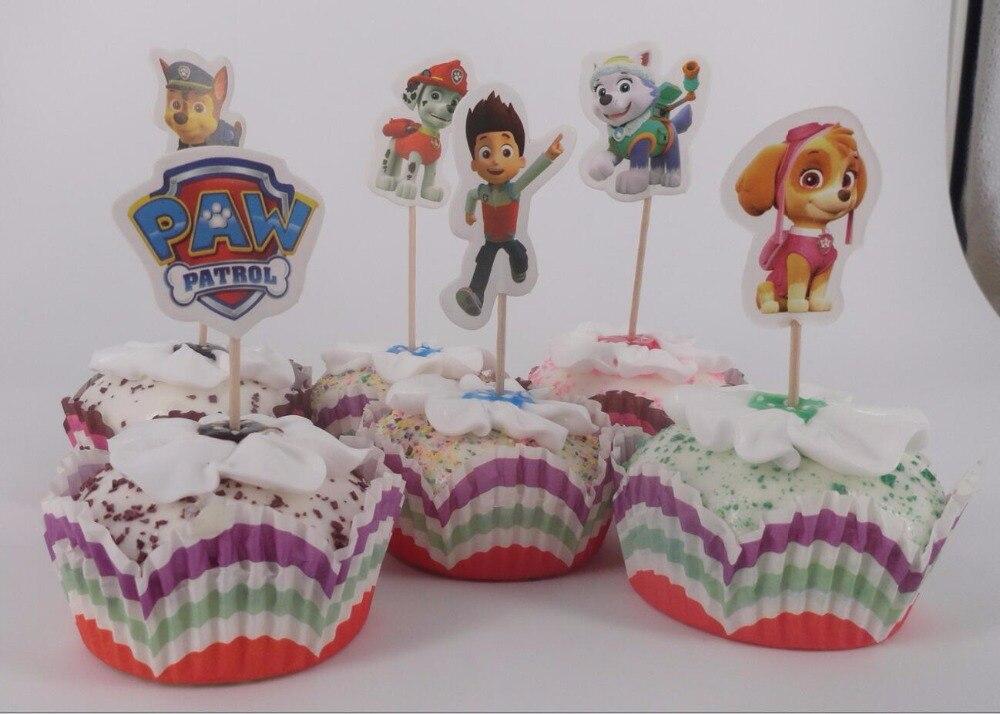 New 24pcs Cartoon Cupcake Ice Cream Cake Topper Nursery Party font b Valentine b font Birthday