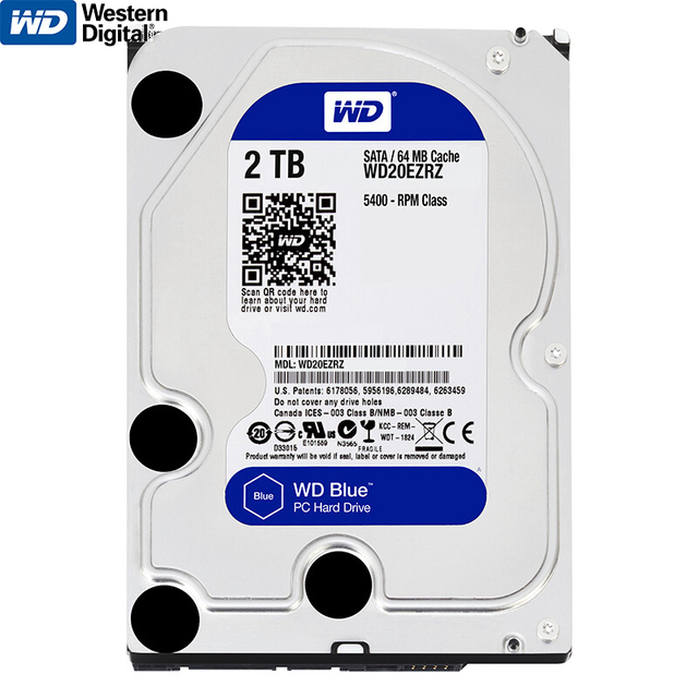 "Genuine Western Digital WD 2TB HDD Internal Hard Disk Drive 3.5"" For Desktop All-In-One 5400 RPM SATA 6Gb/s disco duro interno"