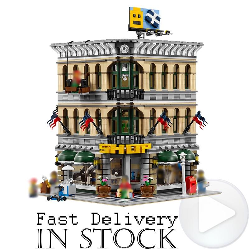 где купить Classic LELE 30004 Grand Emporium Creator Architecture Building Blocks Bricks Toys DIY For Children Model Compatible with 10211 по лучшей цене