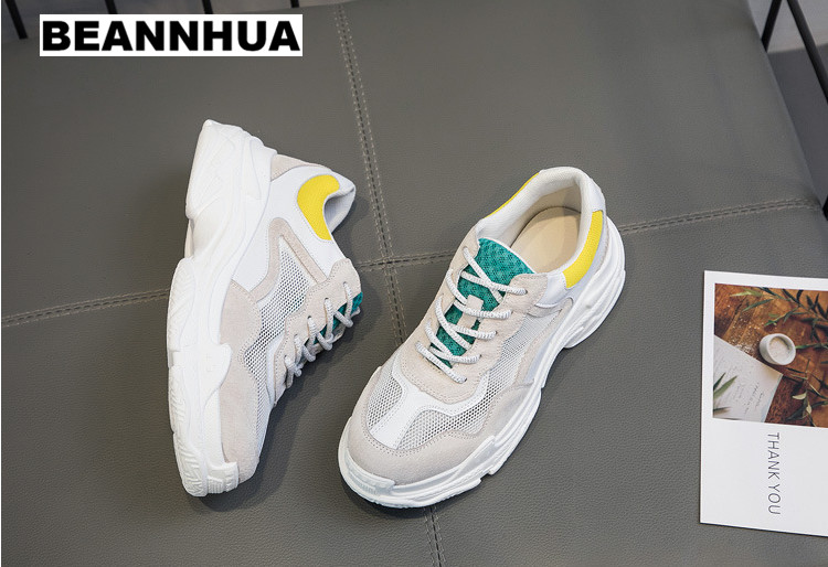 BEANNHUA thick bottom running shoes for women, student's sports shoes, sneakers for lady, wholesale and retail, drop shipping-in Running Shoes from Sports & Entertainment    1