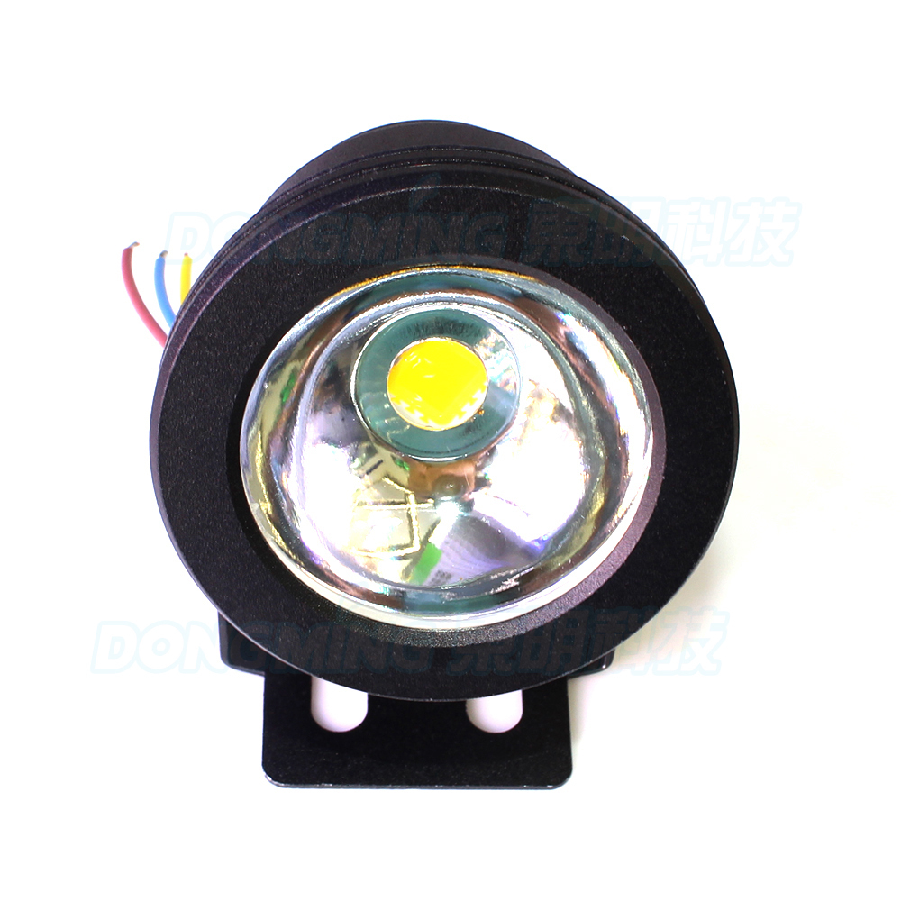 red/green/blue underwater swimming pool lights DC12V underwater lights 10W waterproof ip68 black cover + 12V 10W power supply
