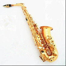 E-flat alto saxophone sax musical instrument electrophoresis gold to send teaching reed shipping