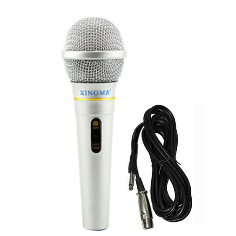XINGMA AK-319 Dynamic Microphone Professional Wired Handheld Karaoke Microphone studio For Singing system Party KTV Amplifier professional switch dynamic wired microphone stand metal desktop holder for beta 58 bt 58a ktv karaoke mic microfone audio mixer
