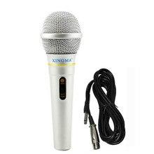 XINGMA AK-319 Dinâmico Microfone Profissional Com Fio Microfone de Karaokê Portátil sistema de estúdio Para Cantar Partido KTV Amplificador