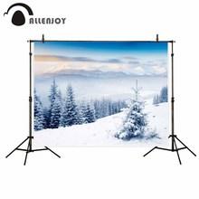 Allenjoy fundo Fotográfico fundo fotográfico bela floresta da Neve do inverno branco puro para o estudo do fundo Da Foto