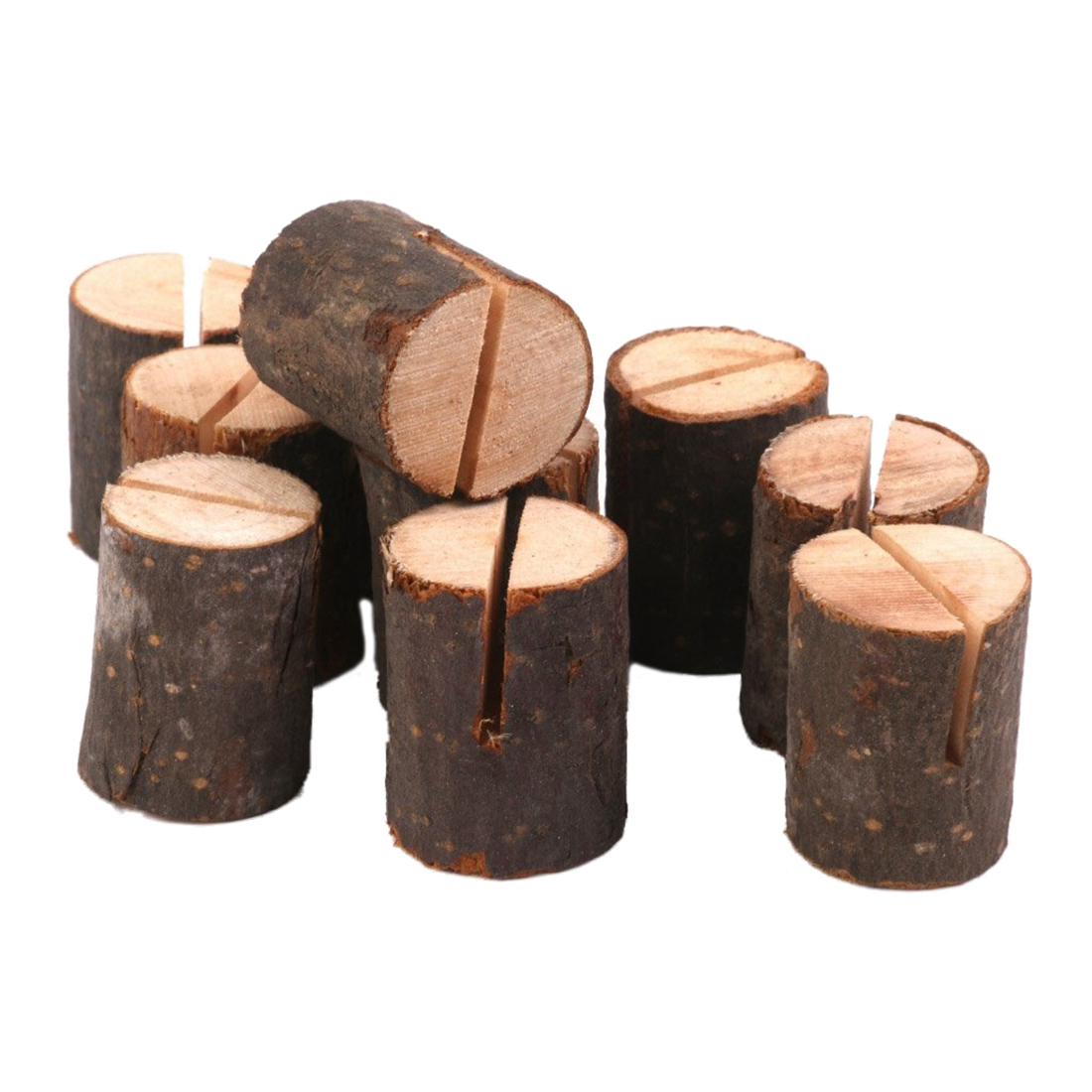 10pcs Wooden Wedding Name Place Card Holders Home Decor
