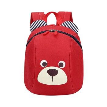 Anti-lost Kids Baby Bag Cute Animal Cartoon bear Children Backpacks School Bag Aged Cute travel bag 2018 New#30 e services logo