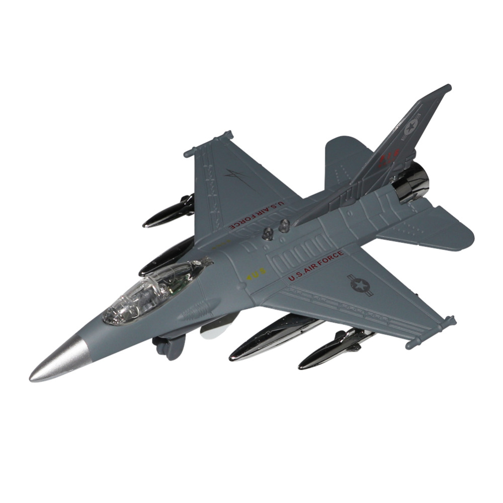 1: 32 Simulation Flashing bomber alloy aircraft model with sound USA F-15 fighter metal casting collection gift display airplane image