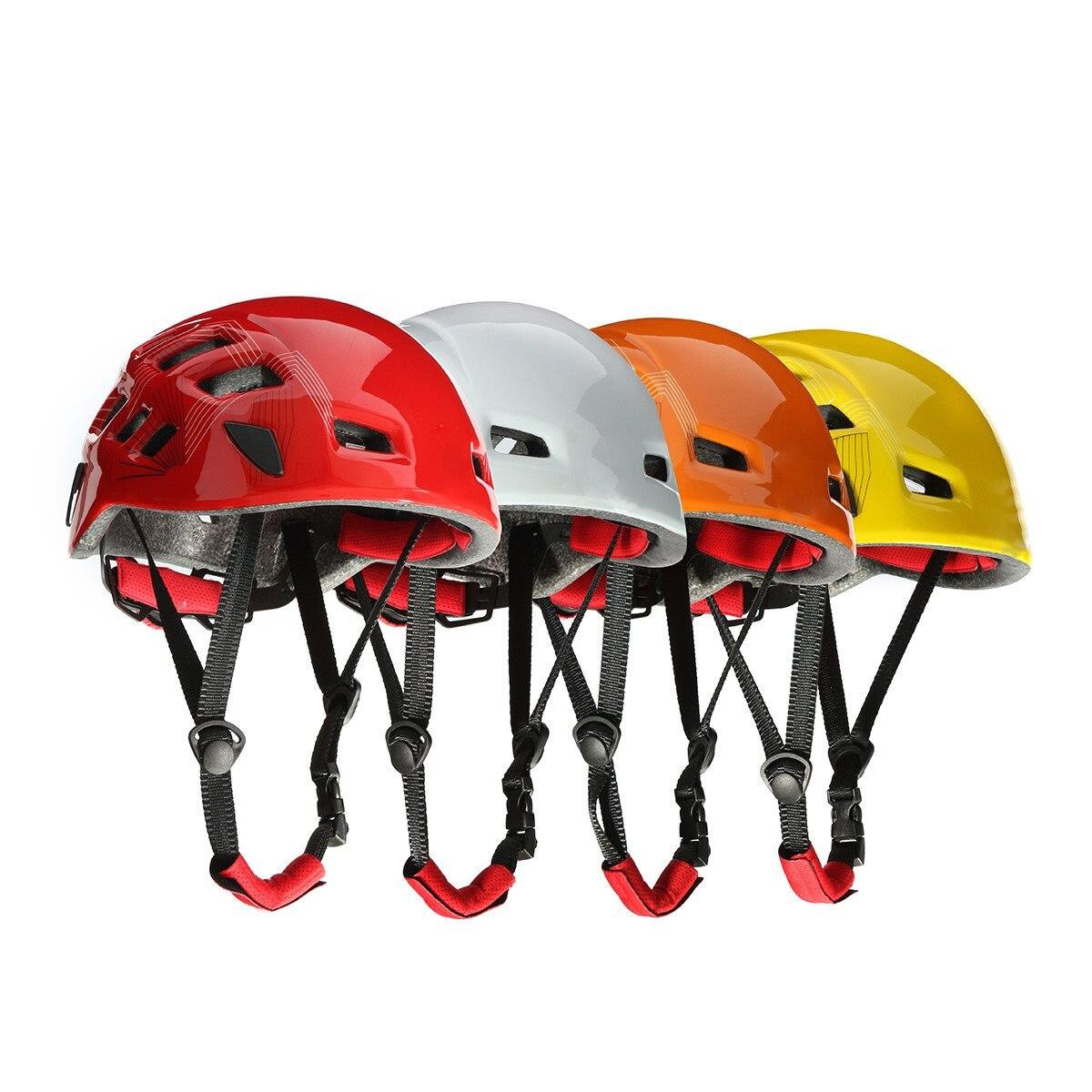 1pcs Poly Carbonate Rock Climbing Helmets Outdoor Sport Rescue Helmet ightweight Climbing wall Accessories